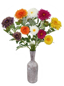 Artificial Flower Gerbera (27 inch, Pack of 3)
