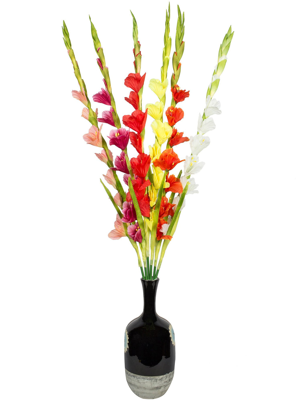 Pink Assorted Artificial Flower  (42 inch, Pack of 3)