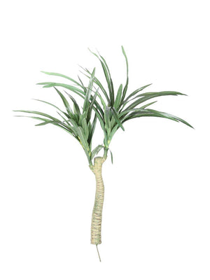 Pollination Decorative Yucca Artificial Plant Without Pot for Home,Office, Restaurant, Hotel, Party, Balcony, Garden Decor, Indoor (50 cm,White Green) - Artificial Flowers & Plants - PolliNation
