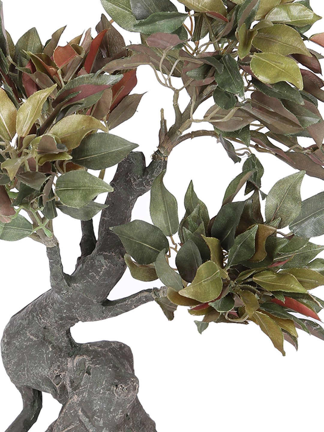 Pollination Artificial Green Ficus Plant Without Pot for Home,Office, Restaurant, Hotel, Party, Balcony, Garden Décor, Indoor (L 30 cm x H 40 cm) - Artificial Flowers & Plants - PolliNation