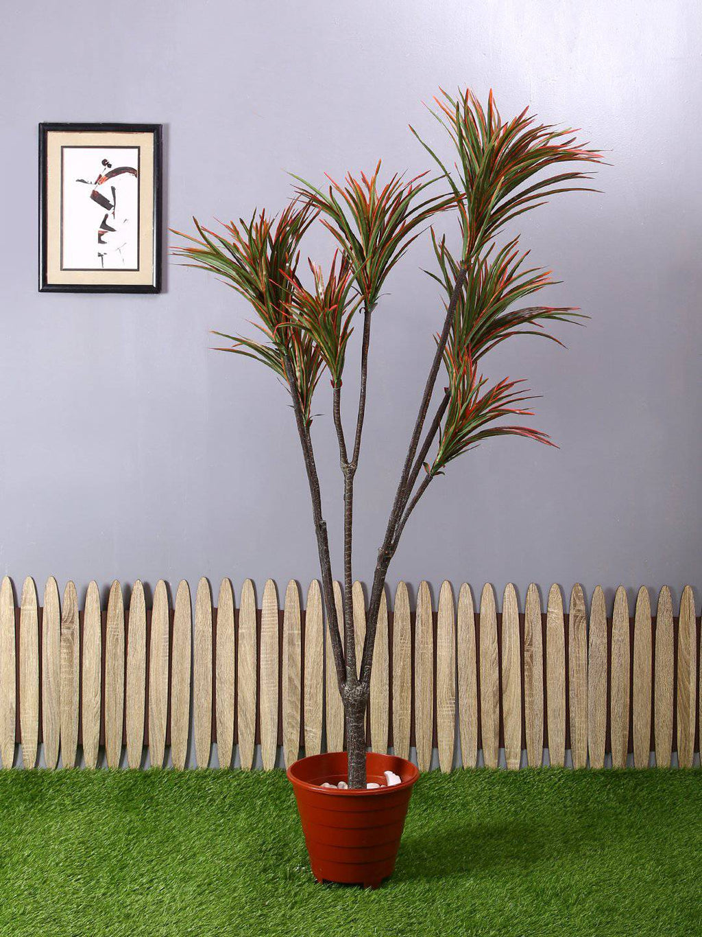 Artificial Yucca Purple Plant Without Pot