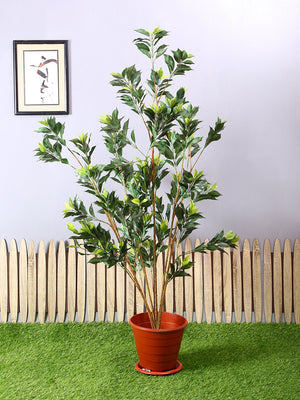 Pollination Premium Green Ficus Artificial Plant Without Pot For Home Living Room Office Garden Decoration (L 90 cm x H 150 cm) - Artificial Flowers & Plants - PolliNation
