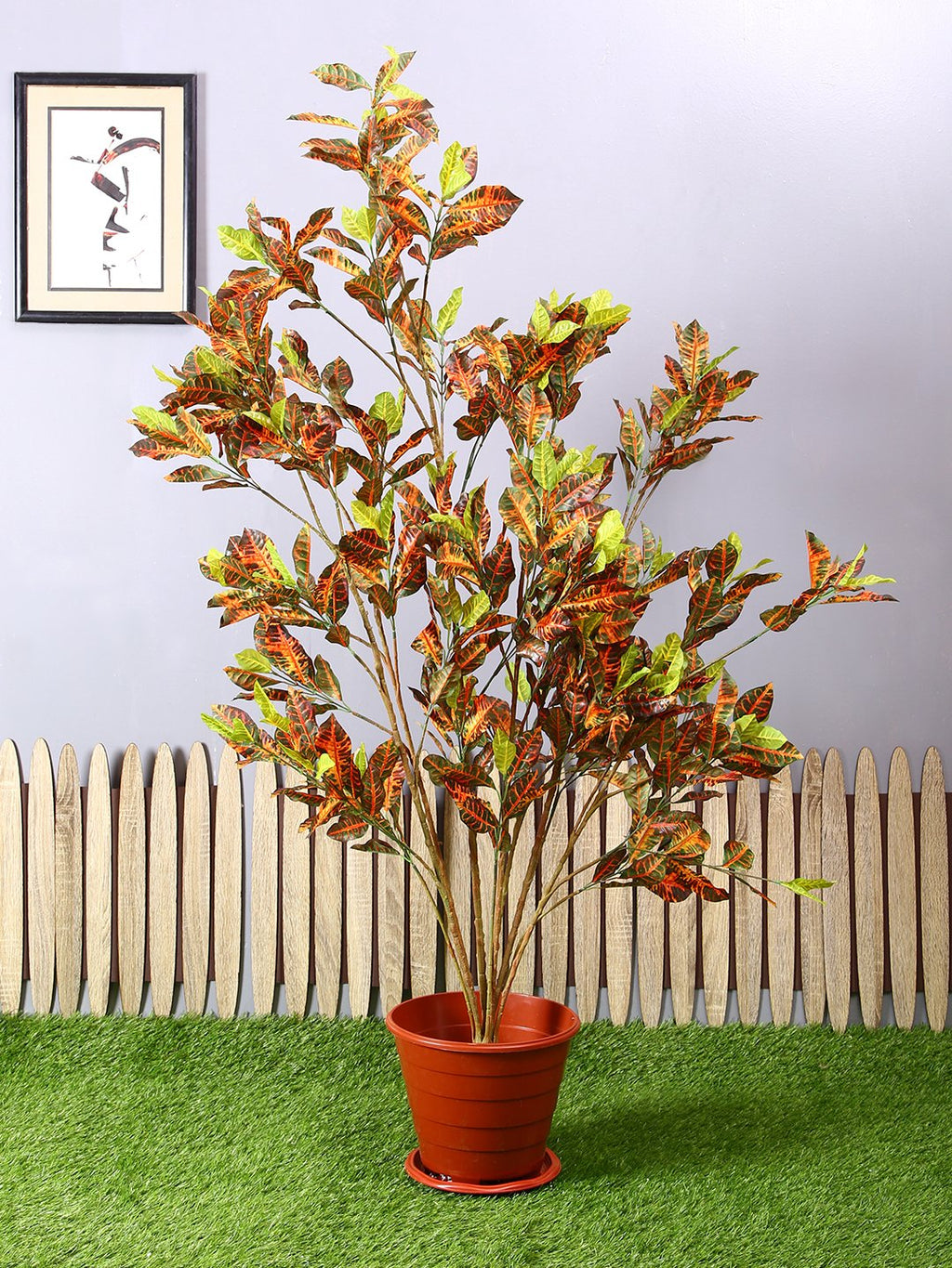 Artificial Multi Croton Plant Without Pot ( L 90 cm X H 150 cm ) - Artificial Flowers & Plants - PolliNation