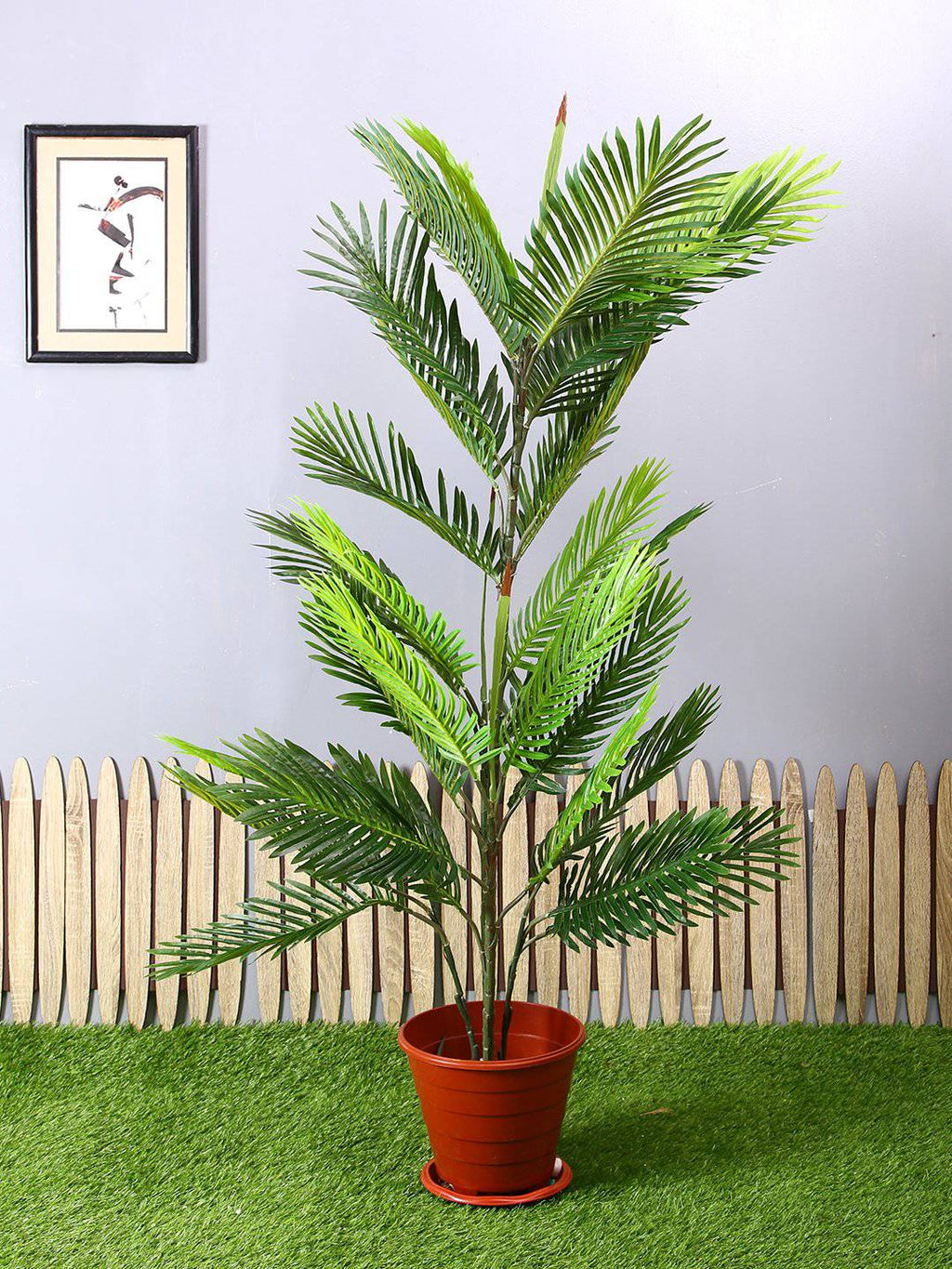 PolliNation Artificial Areca Palm Plant