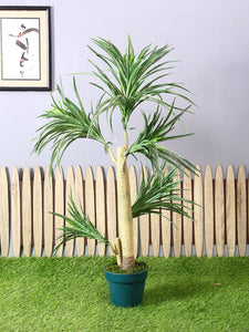 Artificial Green Yucca Plant with Pot for Home
