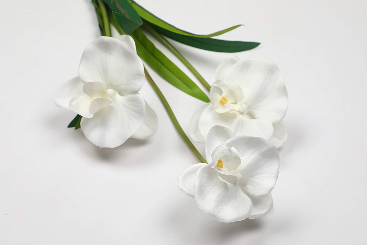 PolliNation Stunning White Orchid Artificial Flower Bunch for Home Decoration (Pack of 1, 21 INCH) - Artificial Flowers & Plants - PolliNation