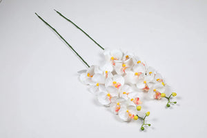 PolliNation Radiant White Orchid Artificial Flowers for Home Decoration (Pack of 3, 38 INCH) - Artificial Flowers & Plants - PolliNation