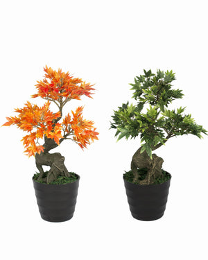 Maple Artificial Plant with Pot  (42.5 cm, Multi color)