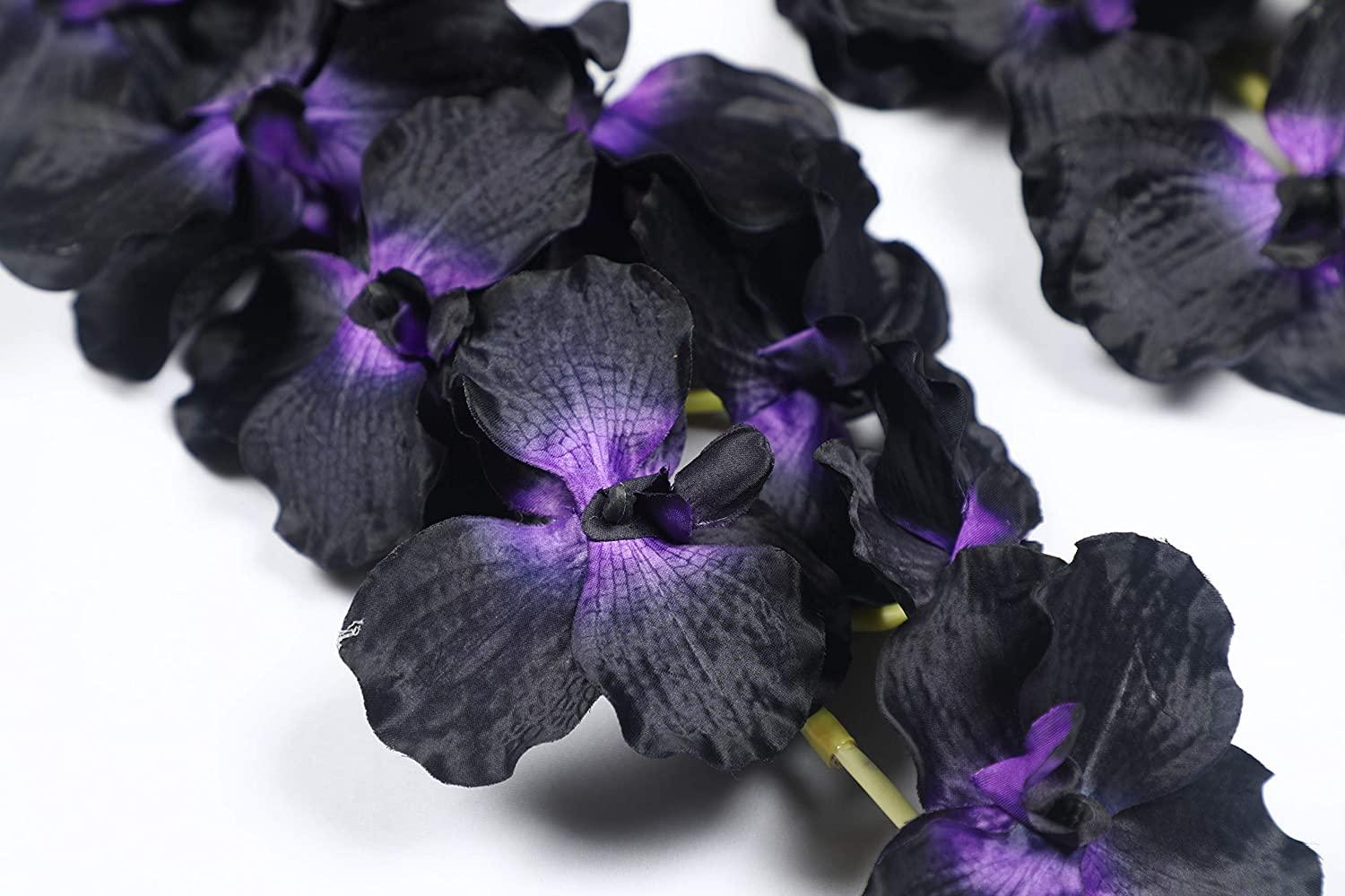 Pollination Stunning Black Vanda Orchid Flower (Pack of 2) - Artificial Flowers & Plants - PolliNation