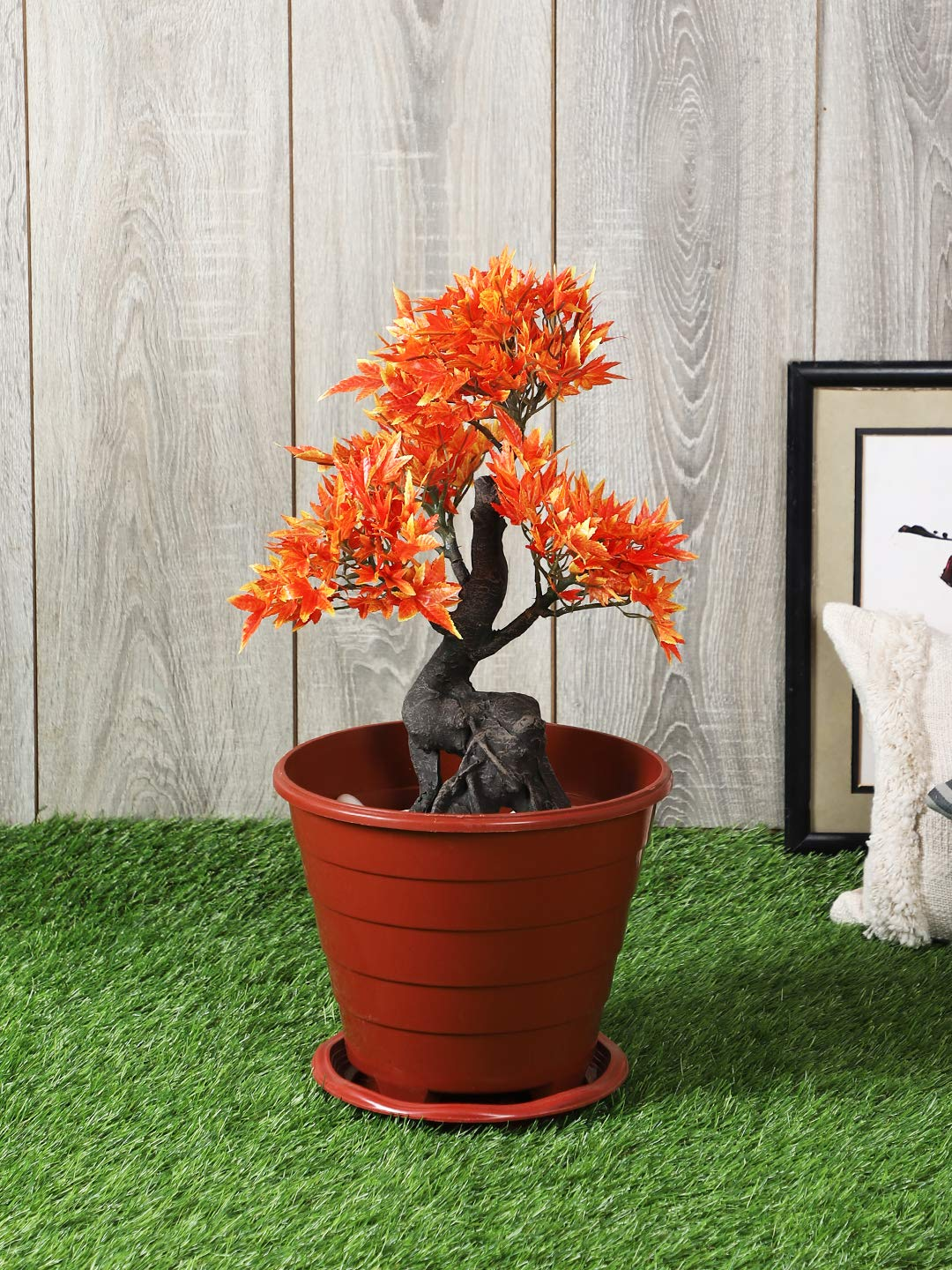 Artificial Maple Plant with Pot  (42.5 cm, Multi color) - Artificial Flowers & Plants - PolliNation