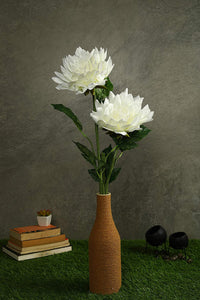 PolliNation Beautiful White Dahlia Artificial Flower