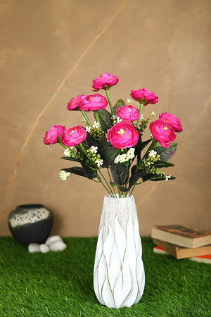Pollination Decorative Light Pink Camellia Rose Artificial Flower Bunch for Home (Pack of 1, 17 INCH) - Artificial Flowers & Plants - PolliNation
