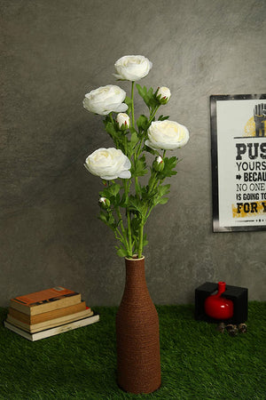 Pollination Decorative White Ranunculus Artificial Flower
