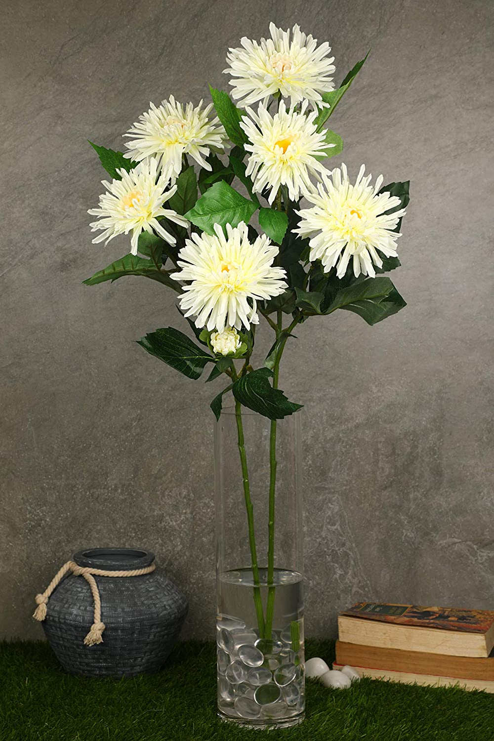 PolliNation Attractive Graceful White Fujimum Artificial Flowers for Home  (Pack of 2, 29 INCH) - Artificial Flowers & Plants - PolliNation