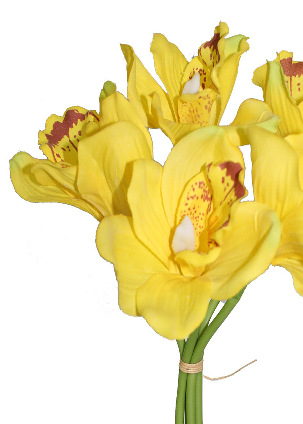 Artificial Yellow Orchids Flower (14 inch, Pack of 5) - Artificial Flowers & Plants - PolliNation