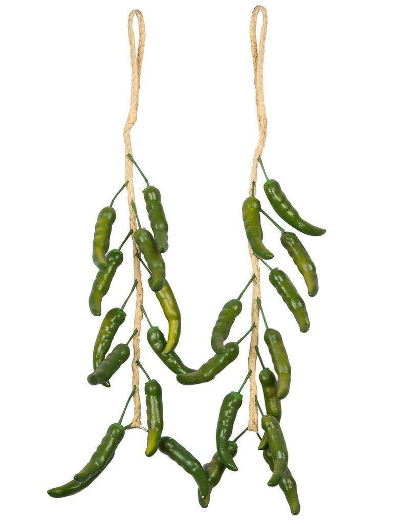 Green Chilli Garland Artificial Plant (Green)
