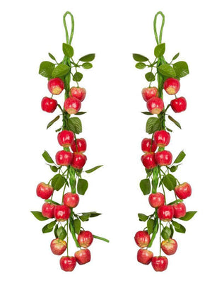 Hanging Fruits Pack of 2 (38 cm, Red) - Artificial Flowers & Plants - PolliNation