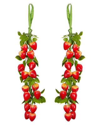 Apple Hanging Fruits Artificial Plant (38 cm, Red)