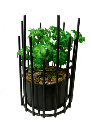 PolliNation Artificial Hidegreen Metallic Bonsai With Black Pot (Pack of 2)