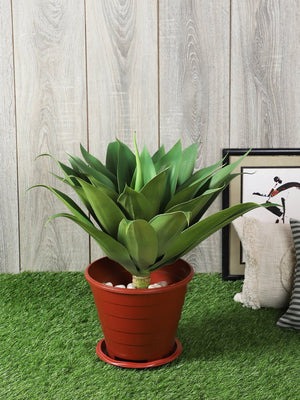 Foxtail Agave Green Artificial Plant Without Pot for Home Decoration