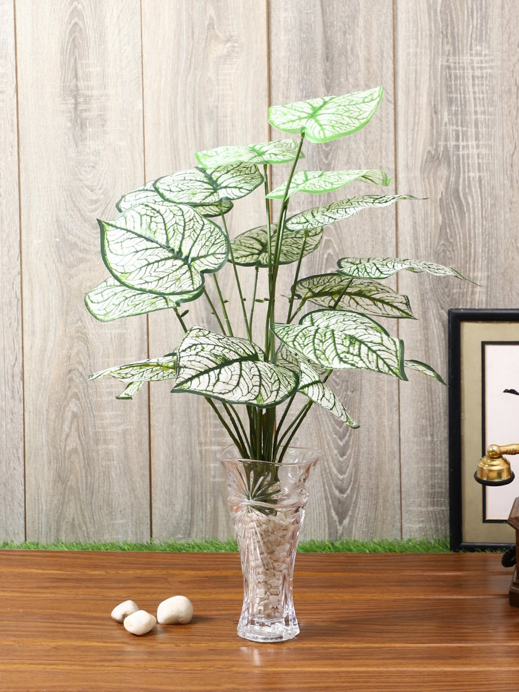 Artificial White Plant Without Pot ( L 60 cm X  H 44 cm ) - Artificial Flowers & Plants - PolliNation