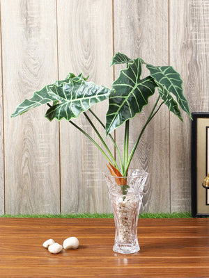 Artificial Zebra Green Plant Without Pot