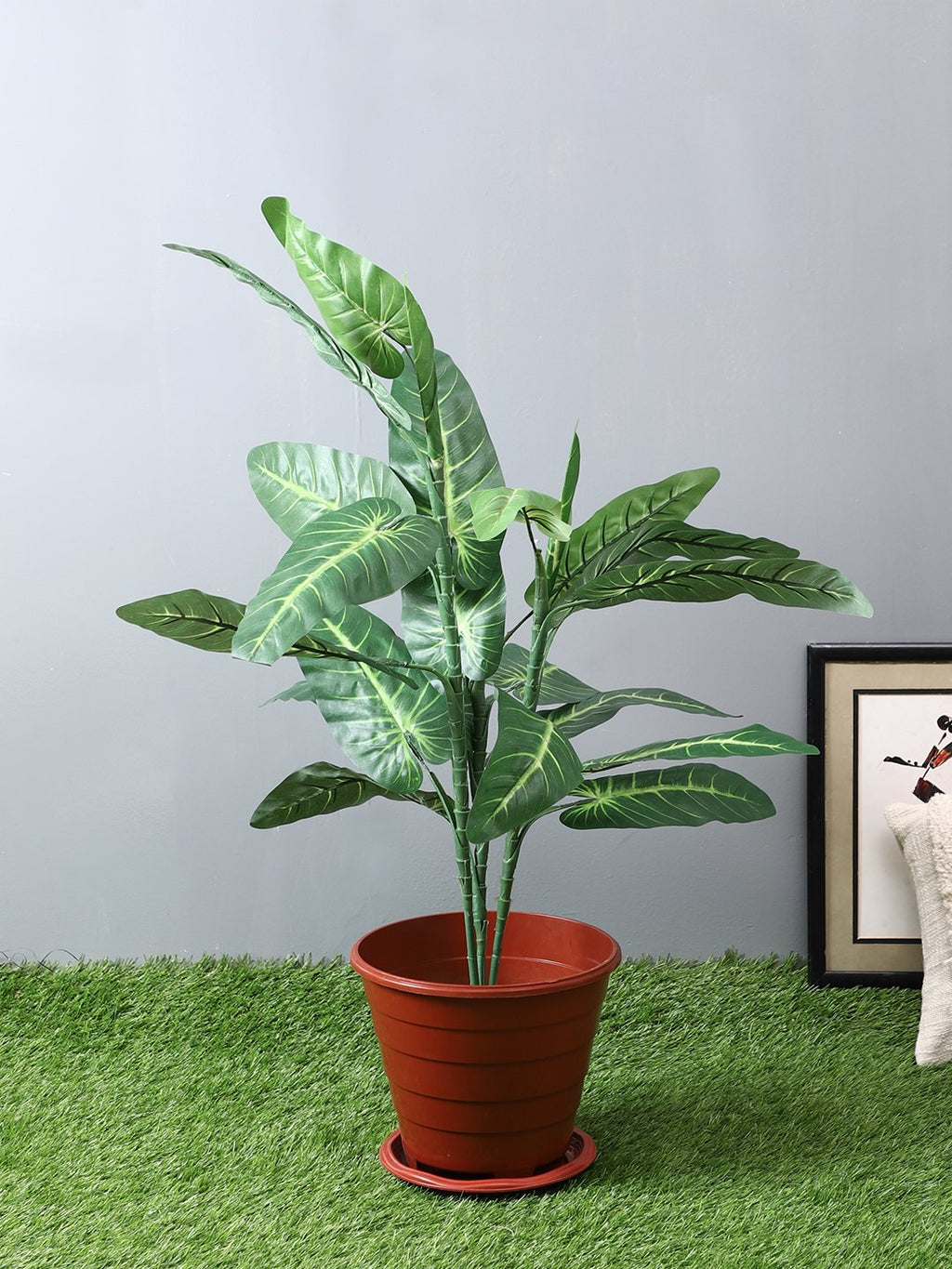 Artificial Elephant Ear Plant Without Pot ( L 65 cm X H 93 cm ) - Artificial Flowers & Plants - PolliNation