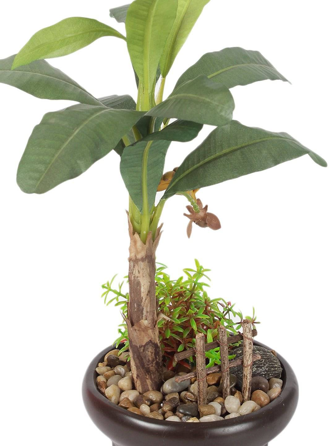 Pollination Artificial Banana Bonsai With Ceramic Pot - Artificial Flowers & Plants - PolliNation