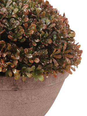 Pollination Artificial Brown Topiary with Pot - Artificial Flowers & Plants - PolliNation