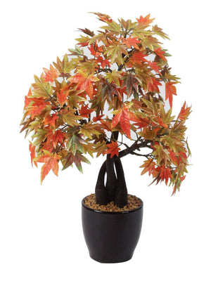 Artificial Maple Bonsai Plant With Ceramic Pot - Artificial Flowers & Plants - PolliNation