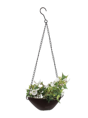 Artificial Creepers flowers Morning Glory - With Hanging Ceramic Pot for Home Garden Decoration - Artificial Flowers & Plants - PolliNation