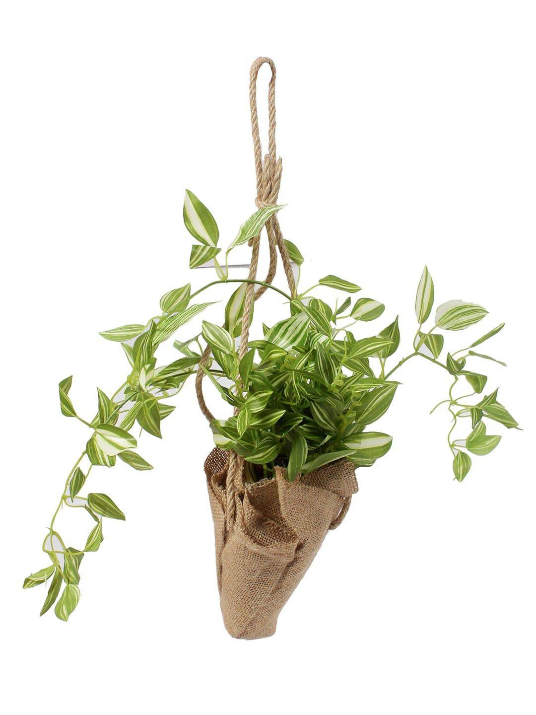 Pollination Artificial Creeper Brown Bonsai with Jute Bag for Balcony Garden Decoration - Artificial Flowers & Plants - PolliNation