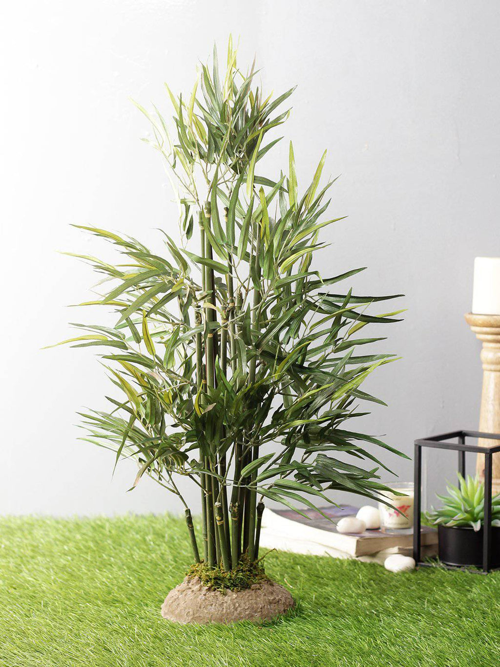 Artificial Bamboo Plant For Home Decor With Solid Silicone Base