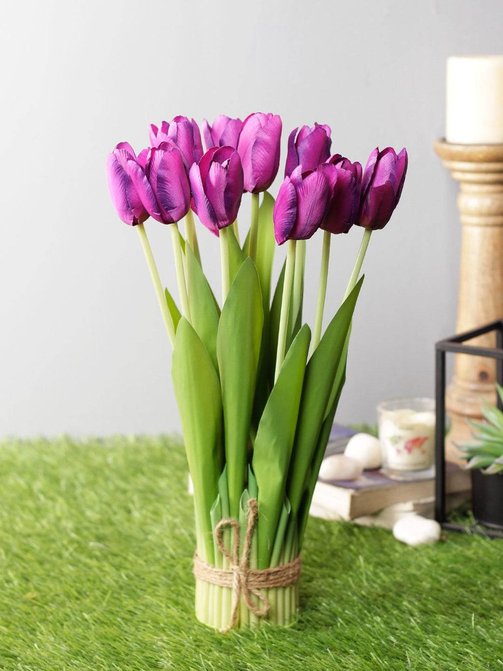 Artificial Synthetic Fabric Tulip Flower Bunch - Artificial Flowers & Plants - PolliNation