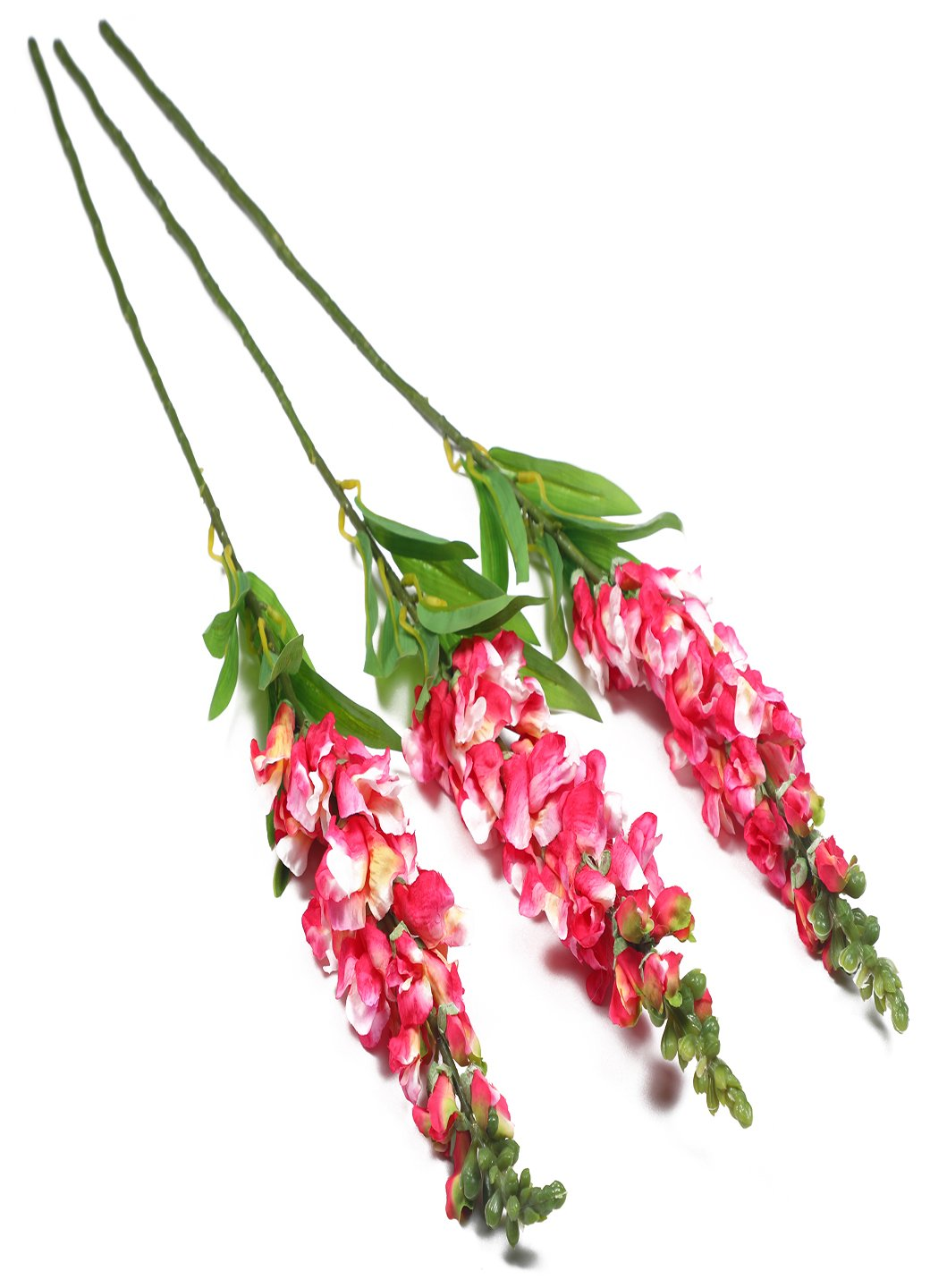 Pollination Decorative Pink Snapdragon Artificial Flower For Home Decor (Pack of 3, 35 Inch ) - Artificial Flowers & Plants - PolliNation