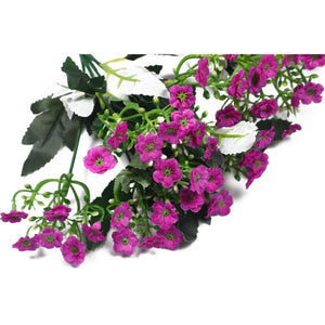 Pollination Decorative Dark Pink Artificial Flower Bunch Home, Office, Room, Restaurant, Hotel, Balcony, Kitchen, Garden Decor, Indoor (Pack of 2) - Artificial Flowers & Plants - PolliNation