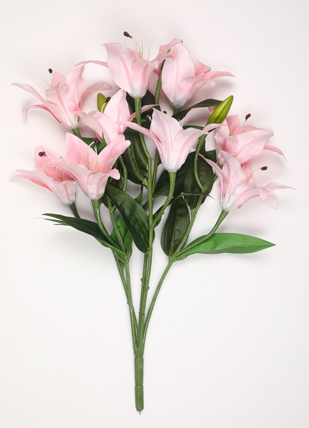 PolliNation Splendid Light Pink Lily Artificial Flower Bunch