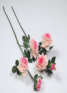 Pollination Premium  Light Pink Rose Artificial Flower for Home,Office, Restaurant, Hotel, Party, Balcony, Garden Decor, Indoor Flower  (Pack of 2) - Artificial Flowers & Plants - PolliNation