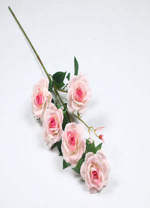 Pollination Stunning Light Pink Rose Artificial Flower  (Pack of 1, 5 Inch ) - Artificial Flowers & Plants - PolliNation