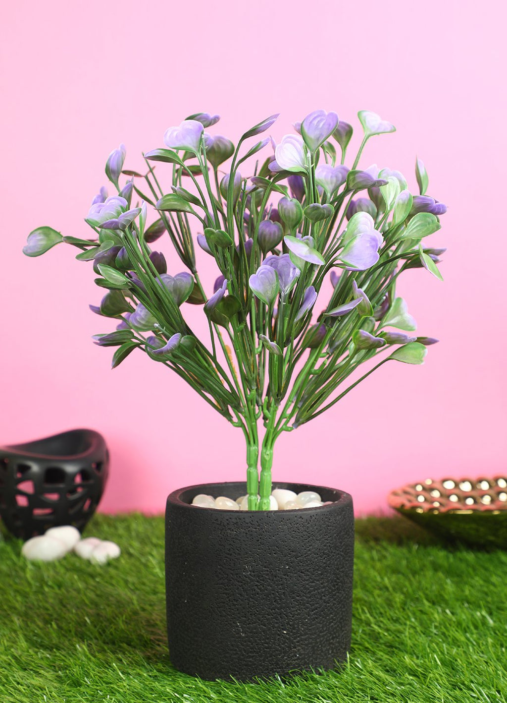 Pollination Green Flower Bunch without Pot For Home Decor (Pack of 2) - Artificial Flowers & Plants - PolliNation