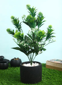 Pollination Classy  Artificial Green Bunch without Pot for Home Decor (Pack of 1) - Artificial Flowers & Plants - PolliNation