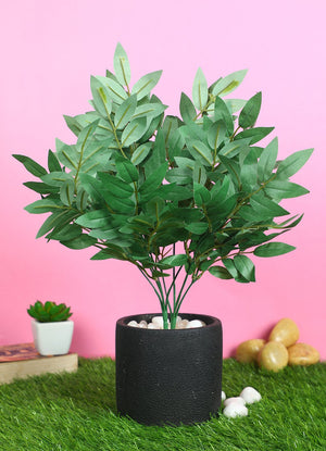 Pollination Artificial Green Bush without Pot for Decoration (Pack of 2) - Artificial Flowers & Plants - PolliNation