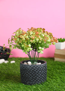 Pollination Artificial Attractive  Brown Waterclover Bunch without Pot For Home/Office Decor (Pack of 2) - Artificial Flowers & Plants - PolliNation