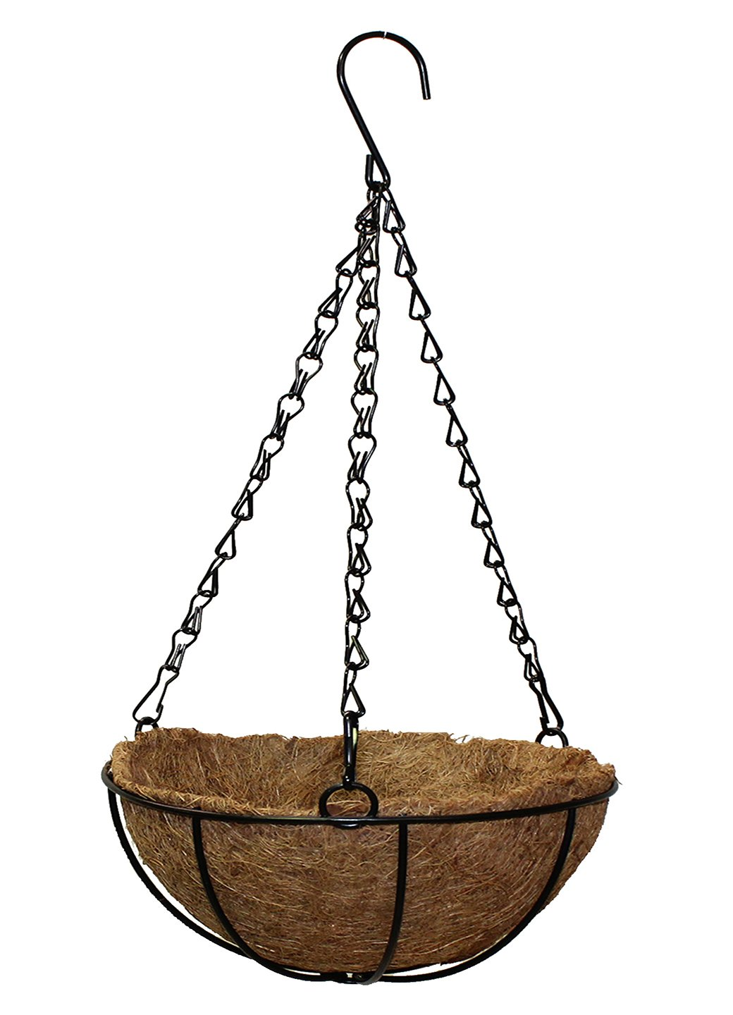 Polliantion Cane Planter with Hanging Metal Chain For Home Balcony Garden (Small, Pack of 1) - Artificial Flowers & Plants - PolliNation