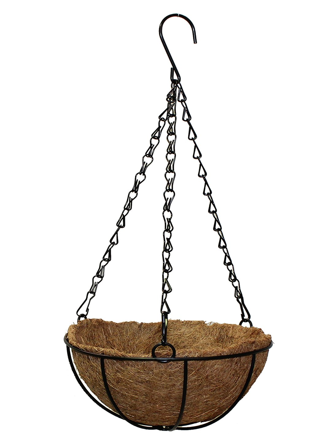 Polliantion Cane Planter with Hanging Metal Chain  Plant Plantar Hanging For Balcony (Large, Pack of 1) - Artificial Flowers & Plants - PolliNation