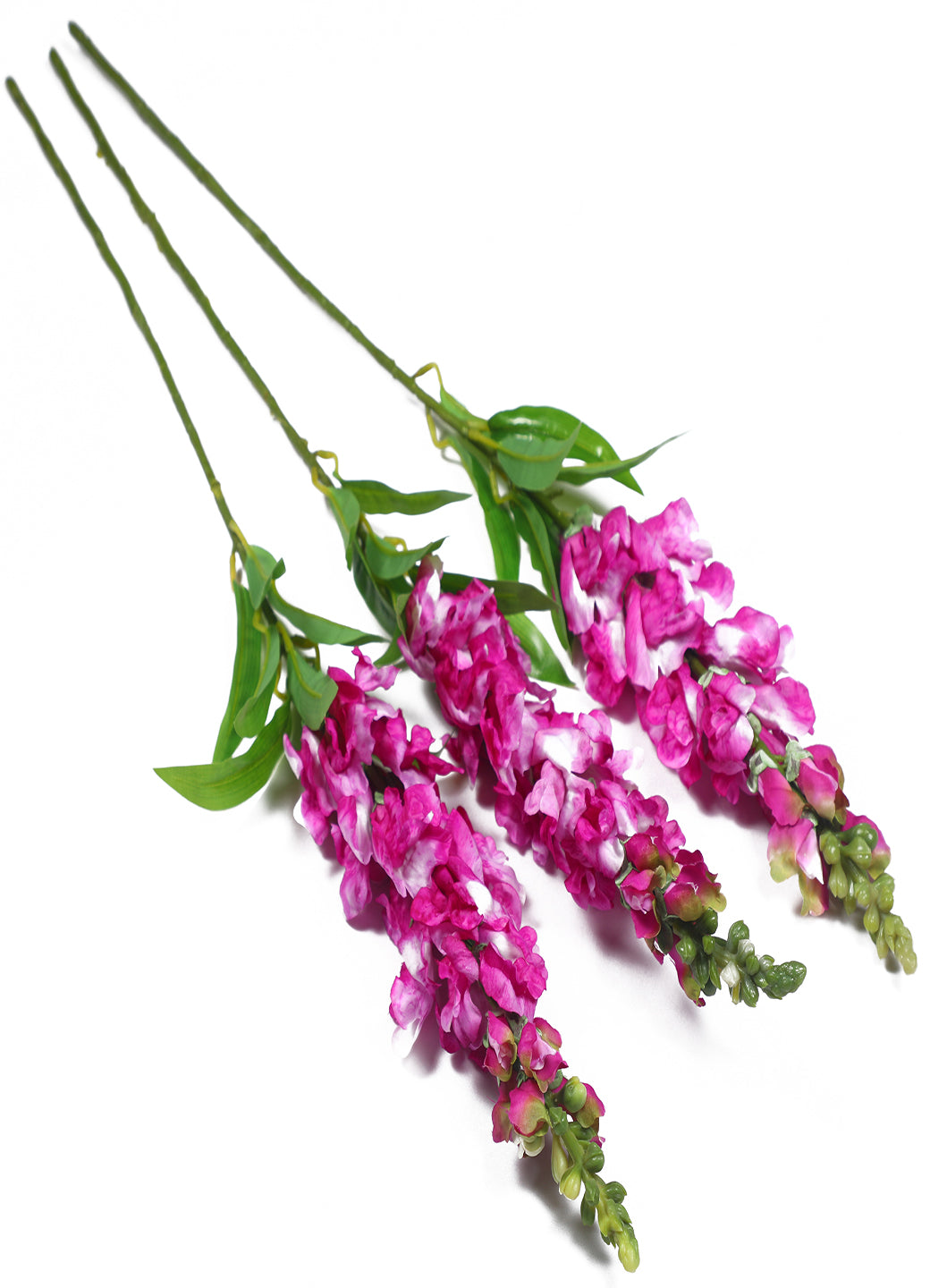 Pollination Decorative Pink Snapdragon Artificial Flower For Home Decor (Pack of 3, 35 Inch )