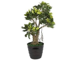 Artificial Ficus Tree Plant Bonsai Without Pot