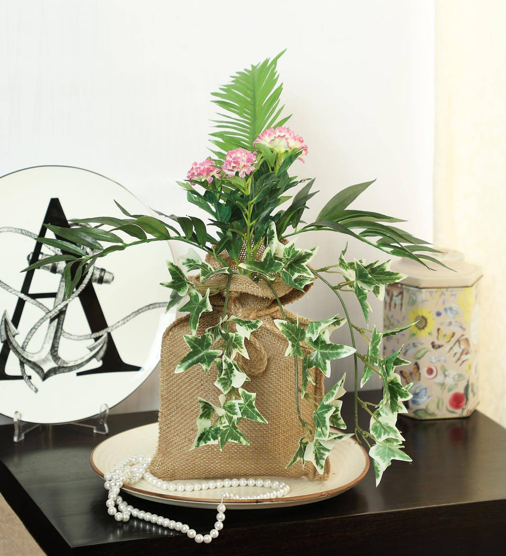 Artificial Hanging Bonsai in Jute Bag