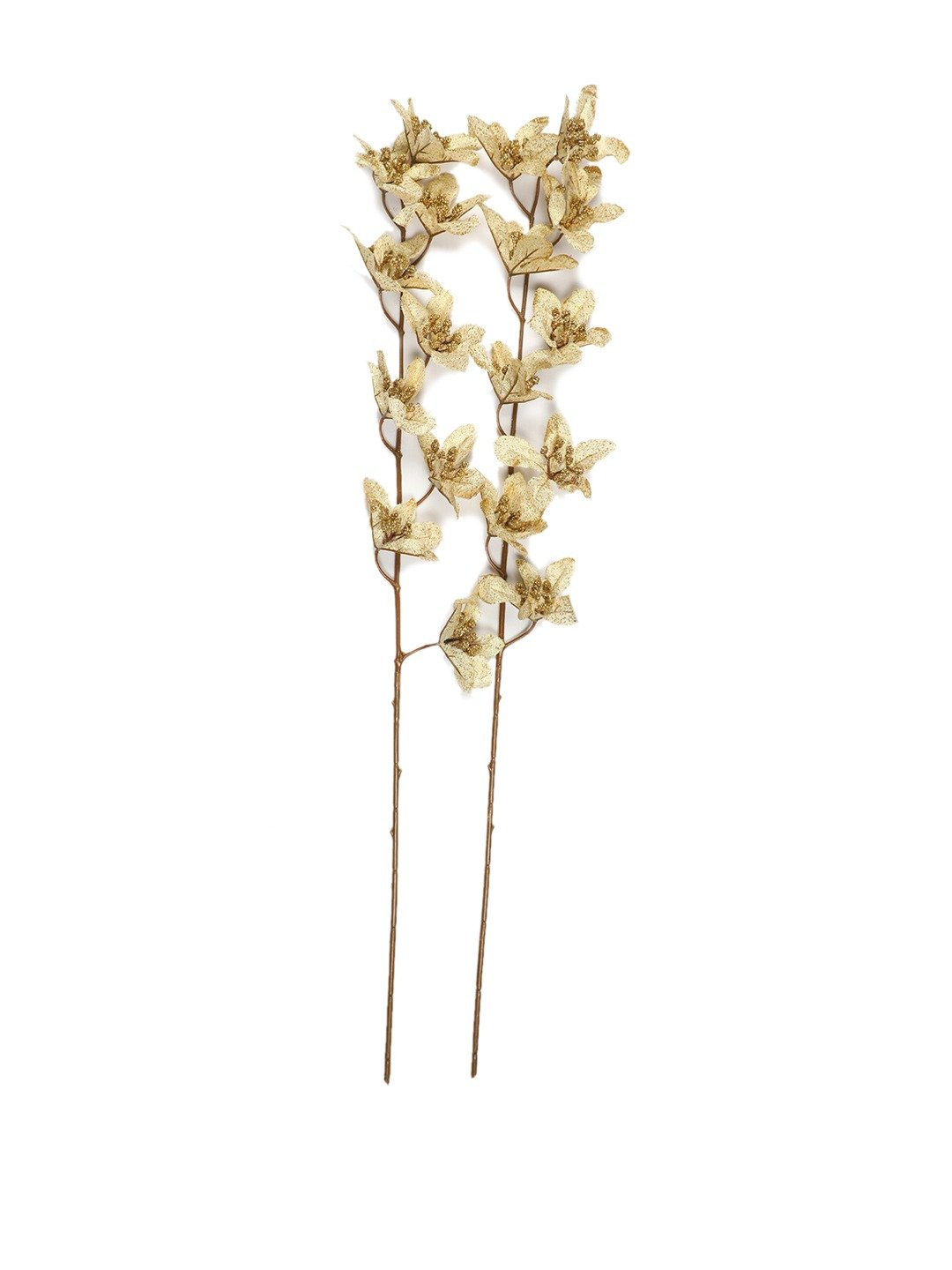 Artificial Golden Forsythia Glitter Flower for Home (Pack of 2, 37 Inch ) - Artificial Flowers & Plants - PolliNation