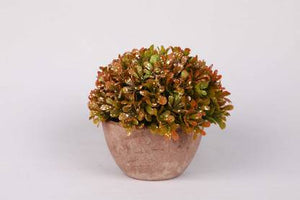 PolliNation Enticing Artificial Topiary Bonsai with Fiber Pot